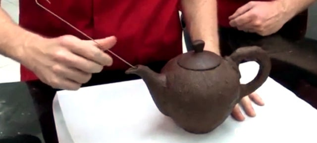 This Chocolate Teapot Can Hold Boiling Water Without Totally Melting