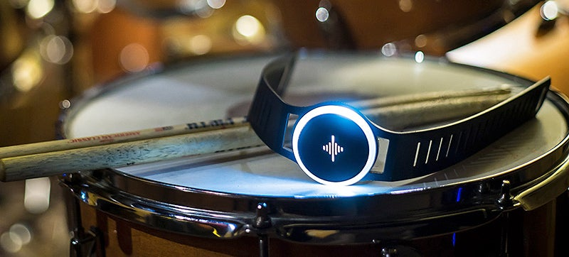 This Wristband's Tactile Vibrations Let Musicians Silently Keep the Beat