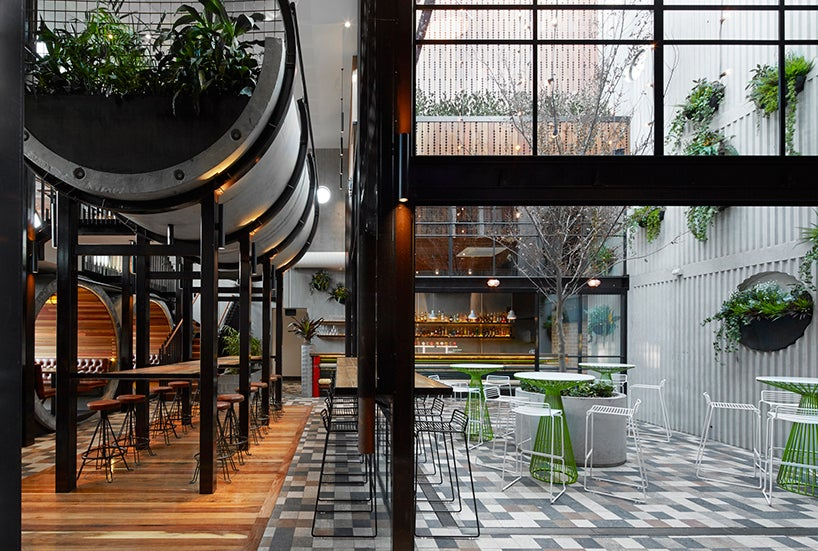 This Pub Built With Concrete Pipes is Surprisingly Elegant and Cozy