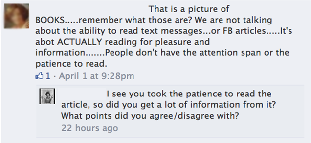 A Reminder That Not Everyone Reads Before Commenting