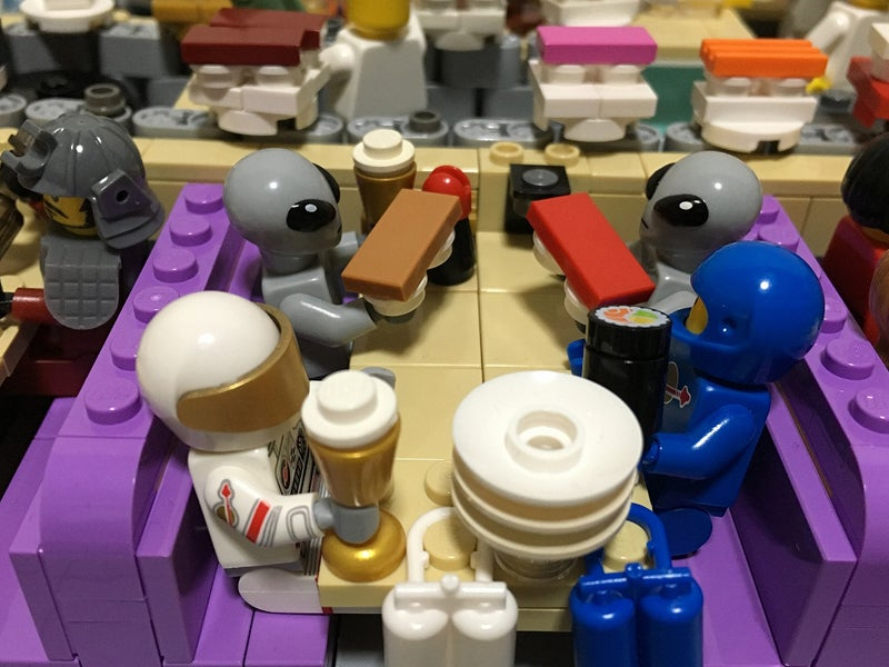 LEGO Sushi Bar Has A Working Conveyor Belt