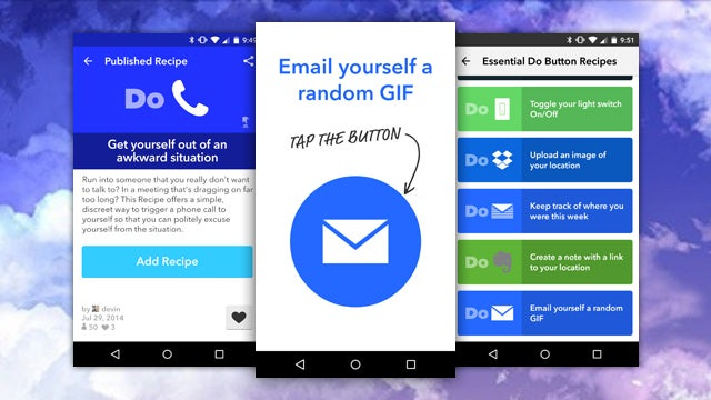 IFTTT Launches Camera, Note, Button Apps to Quickly Trigger Recipes