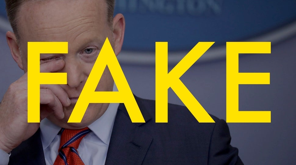 That Viral Sean Spicer Apology About 'Fellow Germans' Is Totally Fake