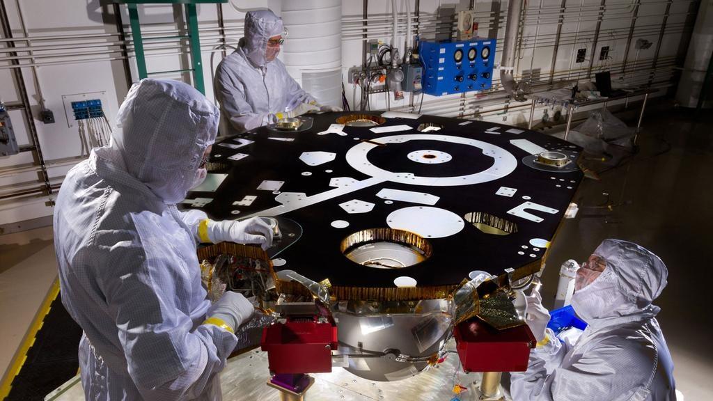 The very beginning of NASA's next Mars lander
