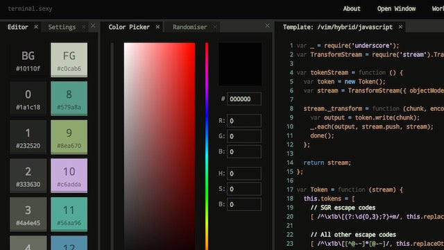 Terminal Sexy Creates Custom Terminal Colour Schemes