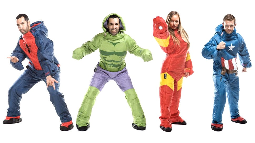 Wearable Marvel Sleeping Bags Prep You For Some Really Heroic Dreams