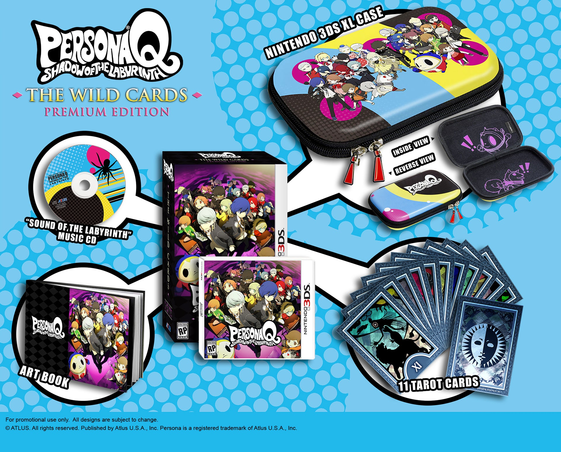 Every First-Run Copy Of Persona Q Comes With Half A Set Of Cards