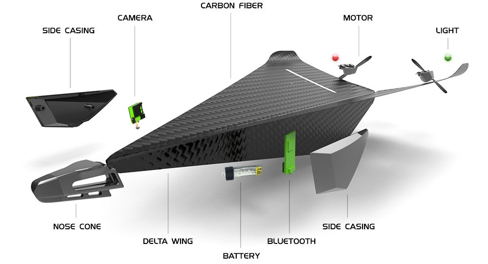 This RC Carbon Fibre Glider Looks Like a Stealthy Paper Aeroplane