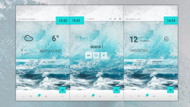 The Ocean Waves Home Screen