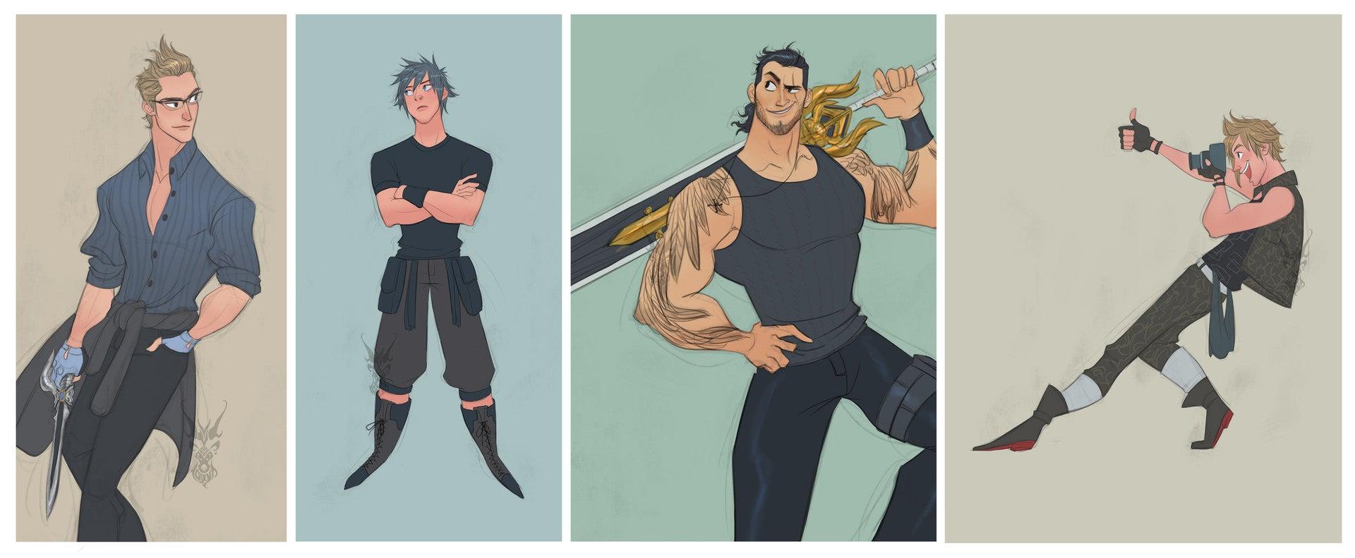 Character Design Final Fantasy Xv : Final fantasy now dreamier kotaku australia