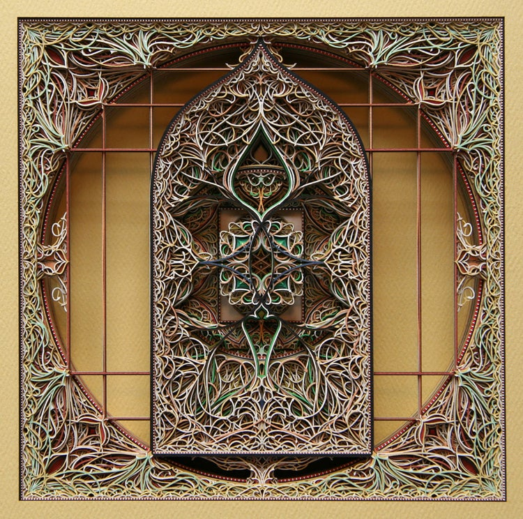 Incredibly beautiful windows made from stacked laser-cut paper