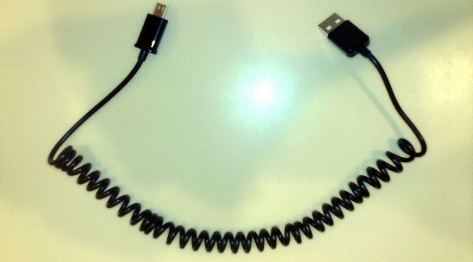 Coil A USB Cord With A Pencil And Blow Dryer For A Shorter Cable