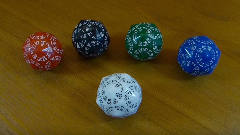 120-Sided Dice, For Your Most Hardcore RPG Sessions