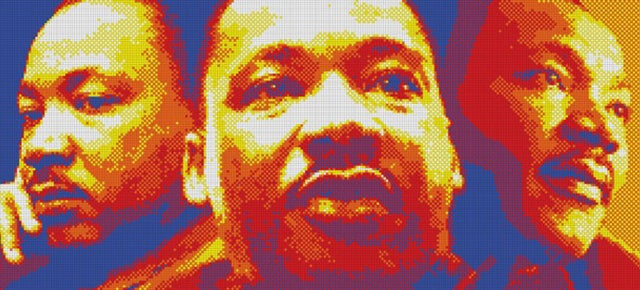 Amazing Martin Luther King, Jr. Portrait Made From 4,200 Rubik's Cubes