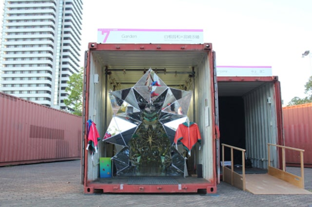 There's a Trippy Walk-In Kaleidoscope Hiding In This Shipping Container