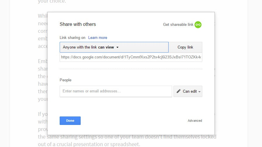 Link Between Documents in Google Drive