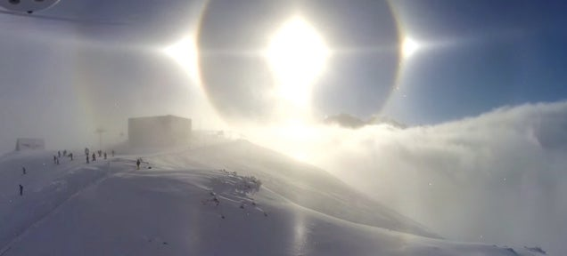 Spectacular Sun halo display captured in video in the Austrian Alps