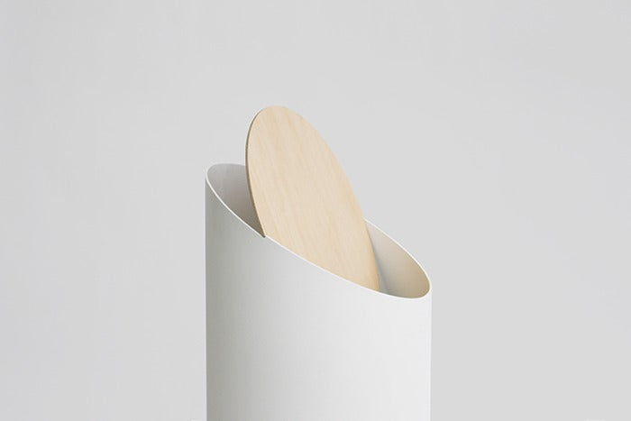 This Elegant Rubbish Bin Swings Open Without Screws, Gears Or Wires