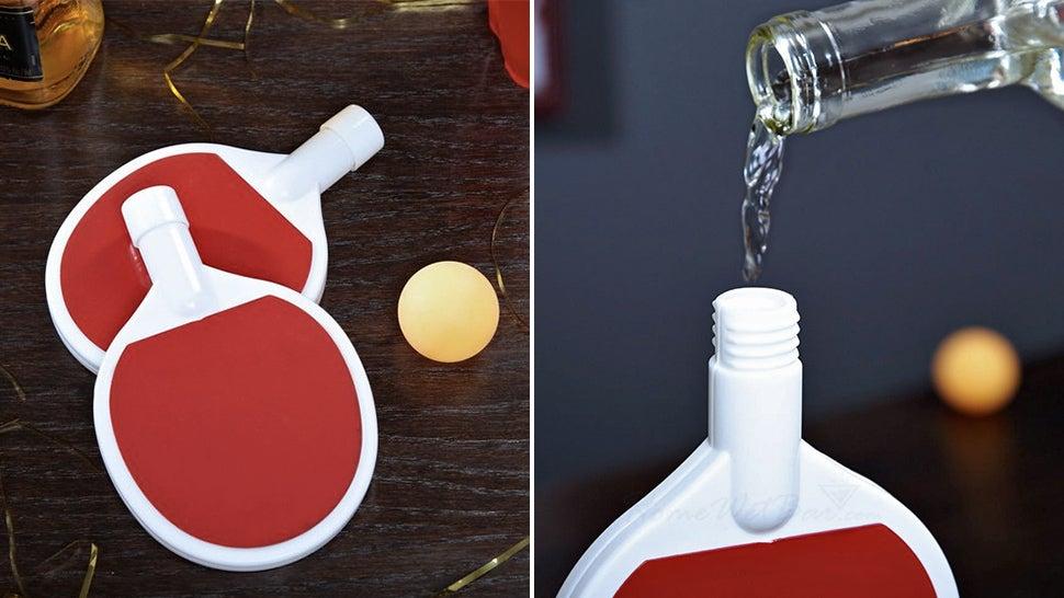 Paddle-Shaped Flasks Completely Redefine Beer Pong