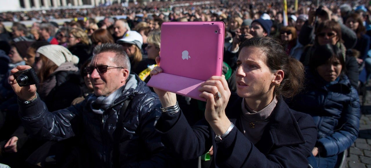 Ugh, look at all these chumps using cameras even bigger than iPads