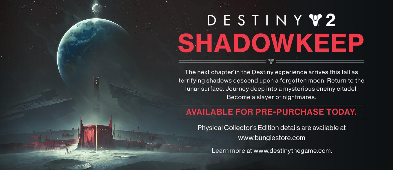 Destiny 2 Leak Reveals Shadowkeep Expansion, Set On The Moon
