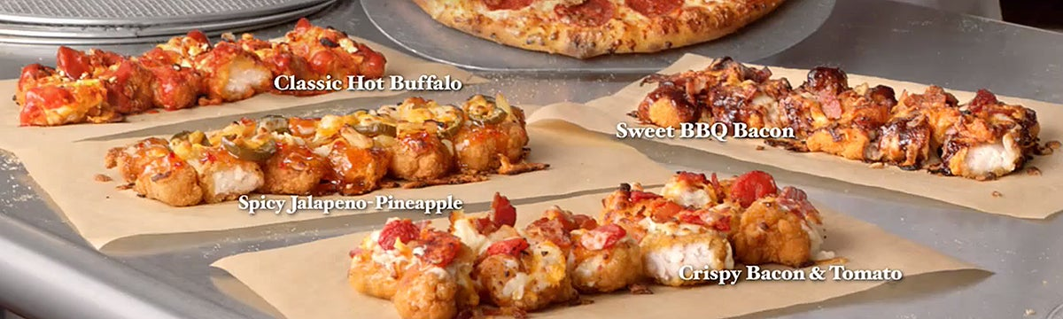 Domino's is making pizza with breaded chicken as the crust