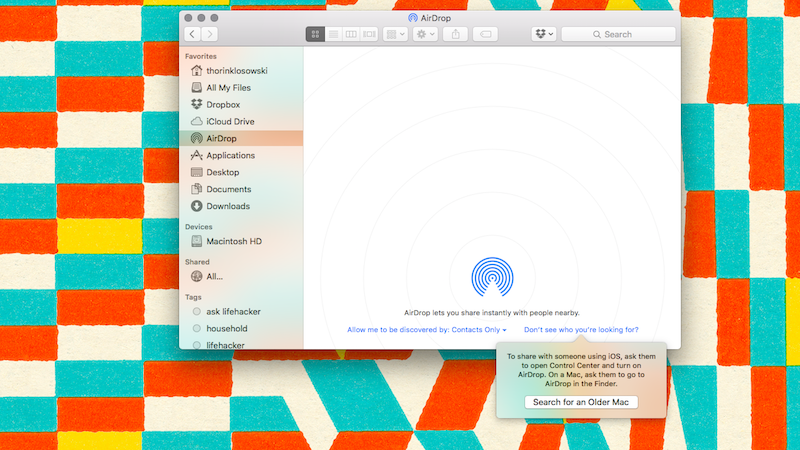 Share Files with AirDrop Between an Older Mac and a Newer One with This Setting