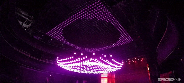 Watching this stunning kinetic chandelier move is like seeing magic
