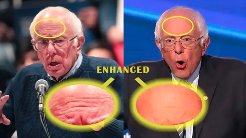 Bernie's Forehead Conspiracy: It's Just Lamps, You Dumb Fucks