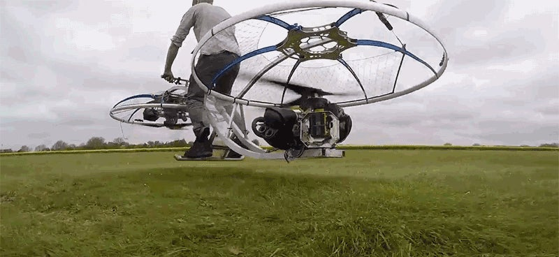 Mad Scientist Builds Fully Functional Hoverbike
