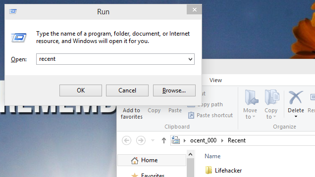 Find Recent Files in Windows with the Run Dialog