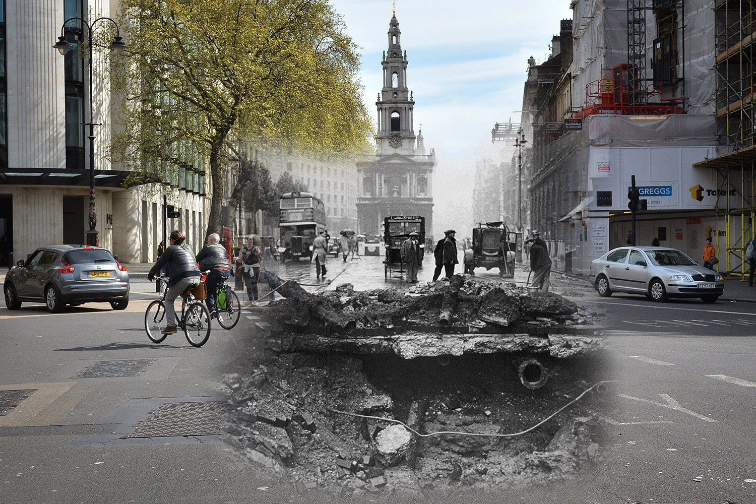Frightening Composite Photos Retell the Terror of the London Blitz
