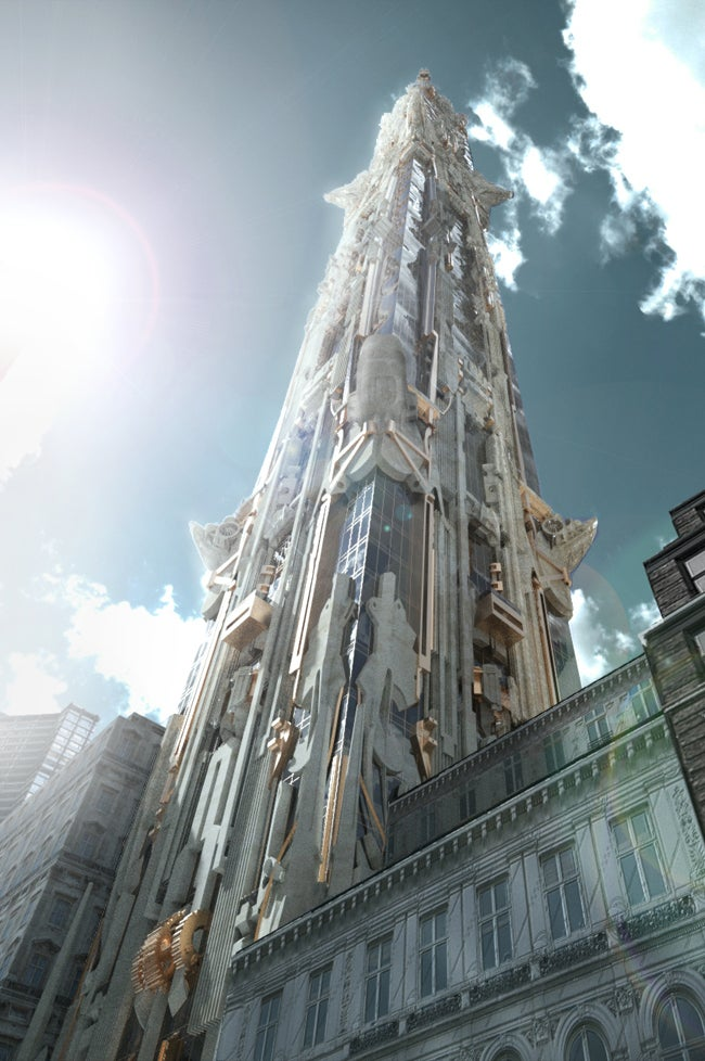 This NYC Skyscraper Design Is Like the Chrysler Building Went to Burning Man and I Love It