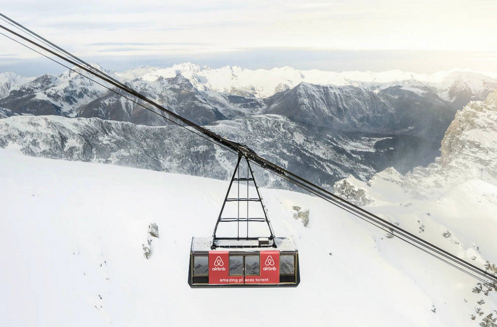 Airbnb offers a luxury cable car 9,000 feet above the French Alps