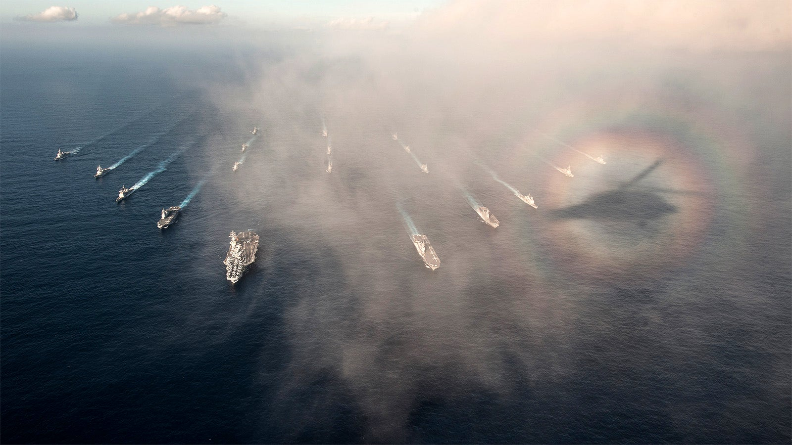 A Rare Optical Phenomenon Makes This Naval Parade Look Magical