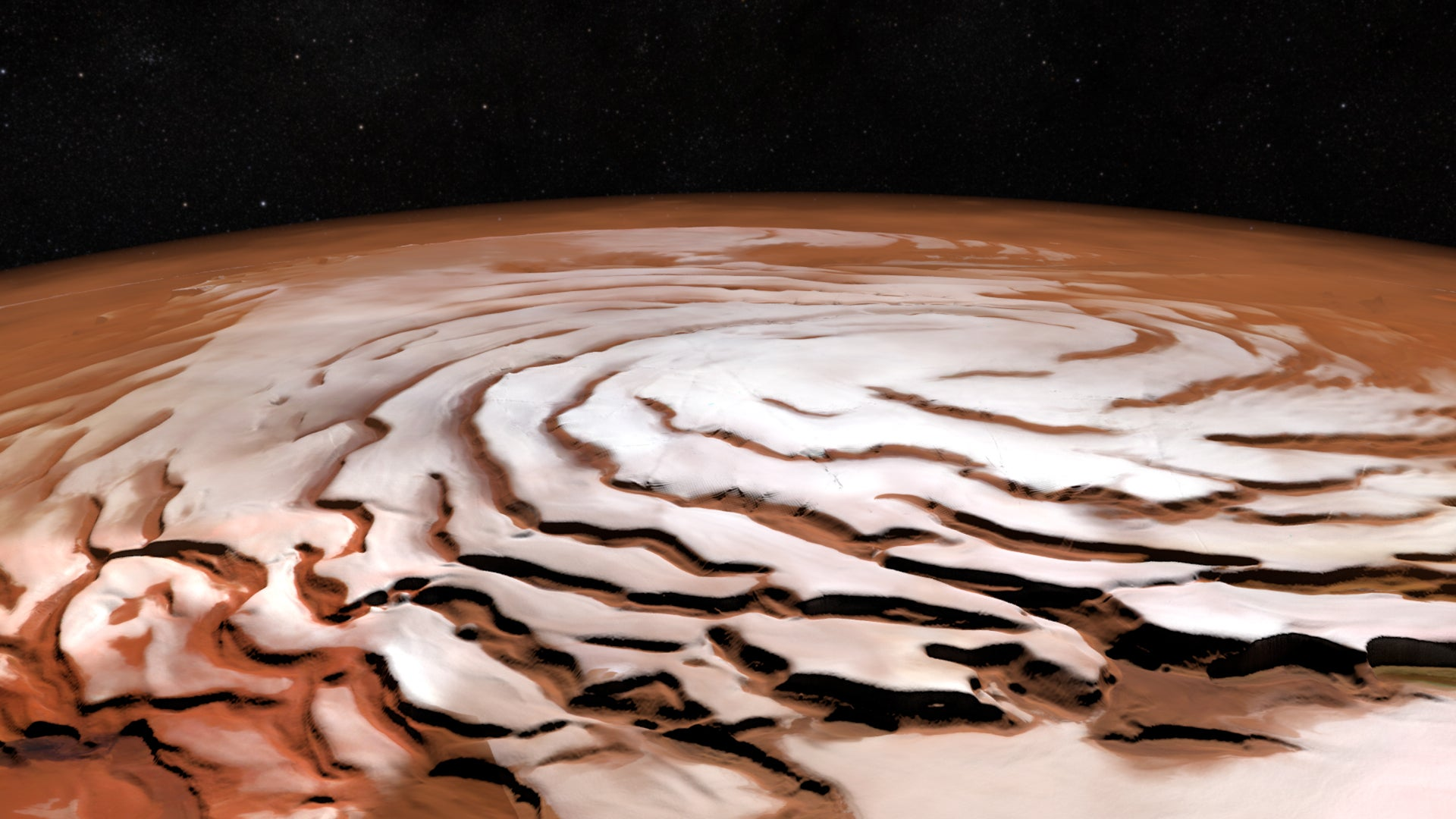 Enormous Ice Avalanches On Mars May Have Rushed Down Craters At 80 Metres Per Second