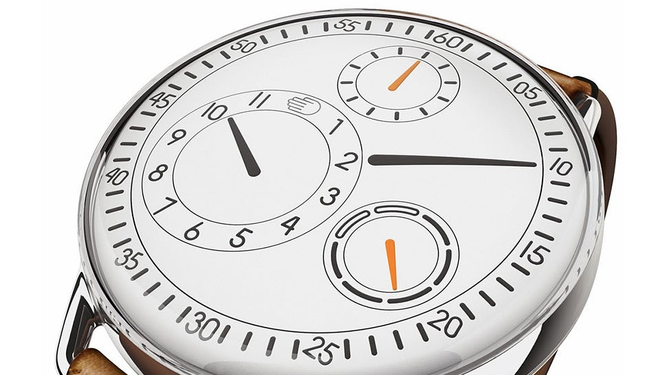 Constantly Spinning Dials Replace Hands on This Sleek Minimal Watch