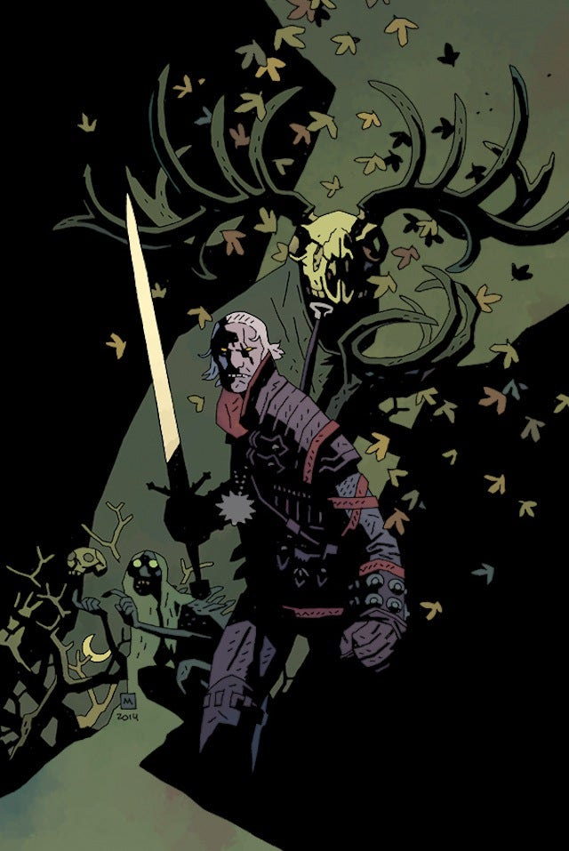 Yup, a Witcher Drawing by Hellboy's Creator Makes Perfect Sense