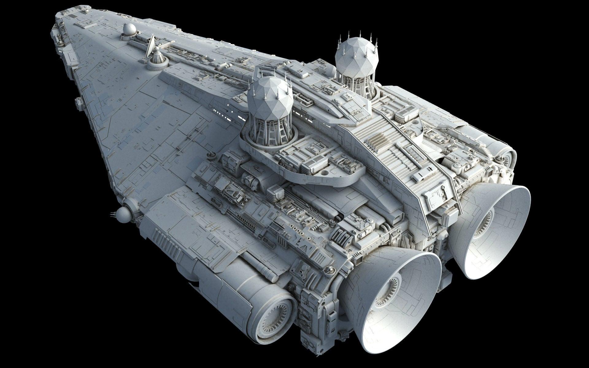 fine art the big beautiful ships of star wars kotaku australia. Black Bedroom Furniture Sets. Home Design Ideas