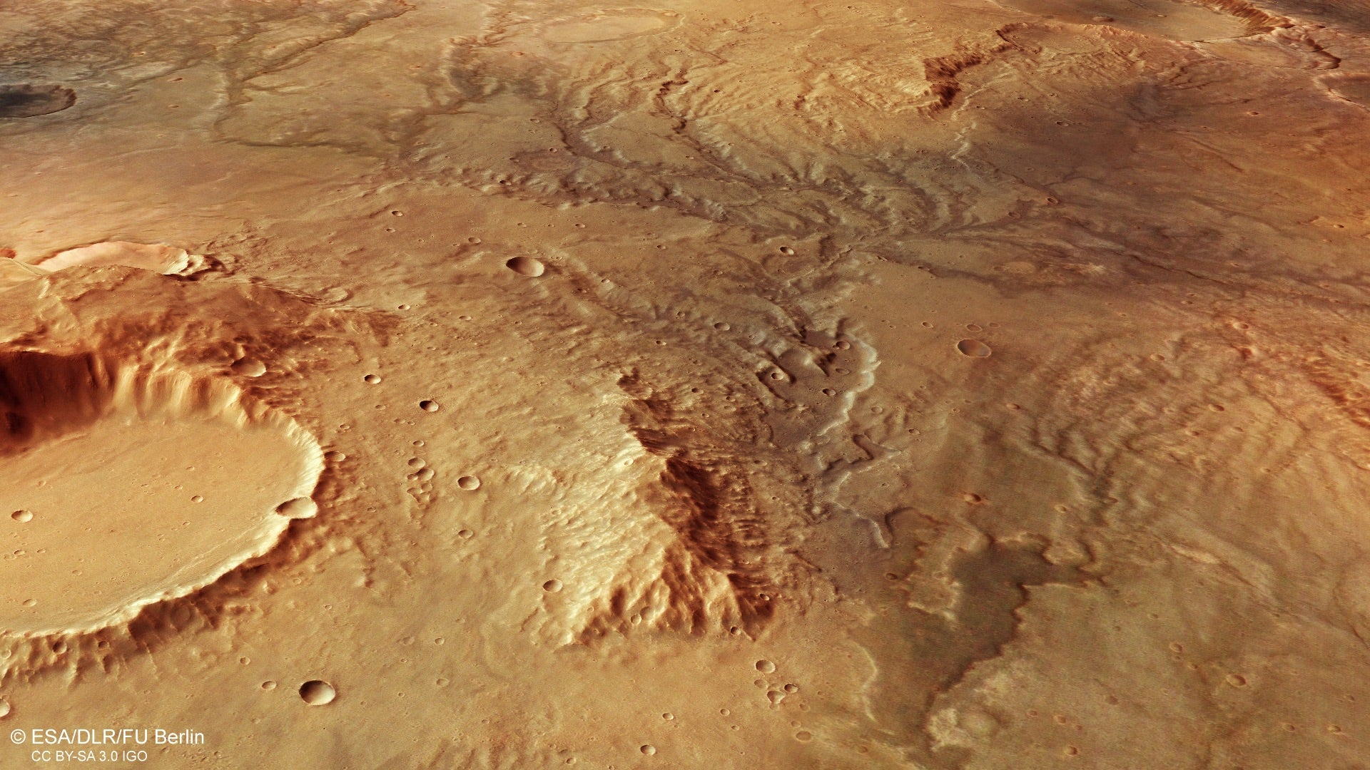 Stunning New View Of Mars Shows Where Ancient Flowing Water Once Carved Its Surface