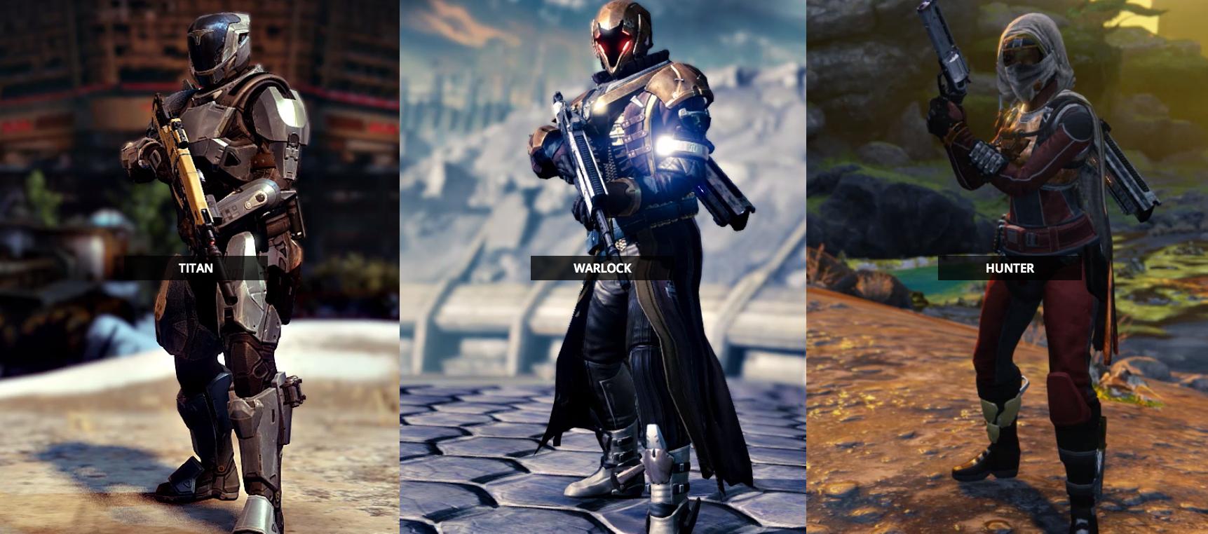 Super-Quick Looks At Destiny's Character Classes