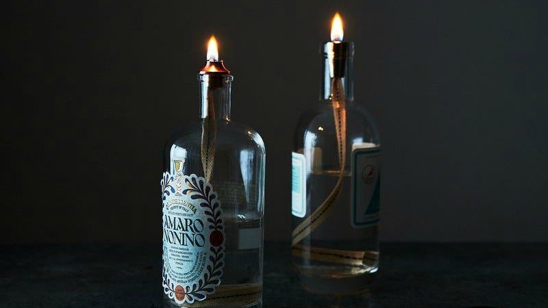 Turn Empty Liquor Bottles Into Beautiful Oil Lamps
