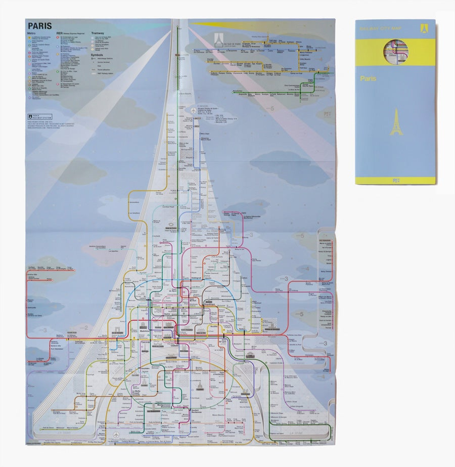 A beautiful map of Tokyo's extremely complex subway and railway system