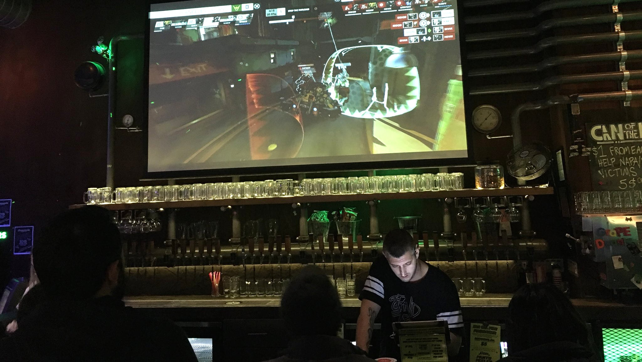 What It's Like To Watch Overwatch At A Bar