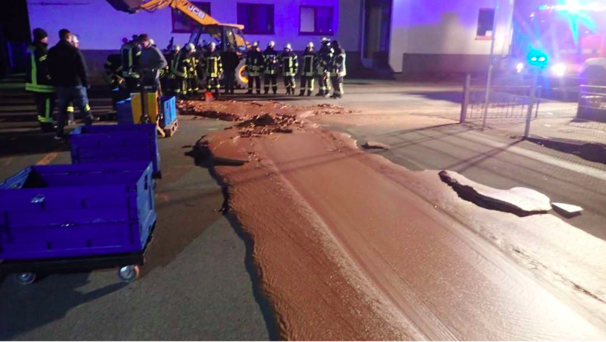 Spill In Germany Creates Chocolate Road Of Your Dreams