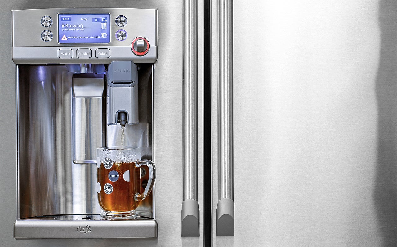 Keurig Coffee Maker Hot Water Dispenser : GE s New Fridge Has A Keurig Coffee Machine Built Right Into The Door Gizmodo Australia