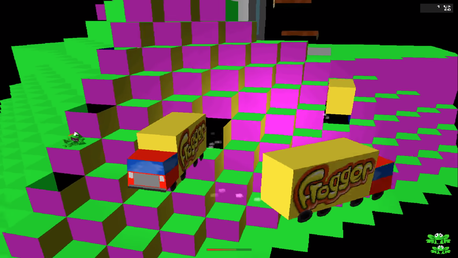 Hidden Inside Frogger On PlayStation Is An Unused Q*Bert Level