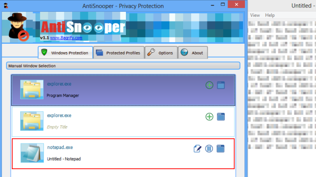 AntiSnooper Automatically Blurs Background Windows for Privacy