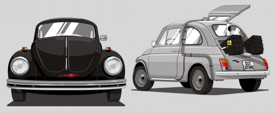 These would be the vehicles of famous heroes if they were on a budget