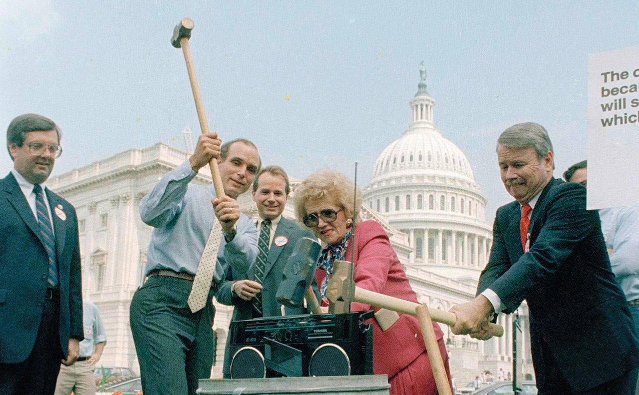 That Time Republicans Smashed a Boombox With Sledgehammers on Capitol Hill